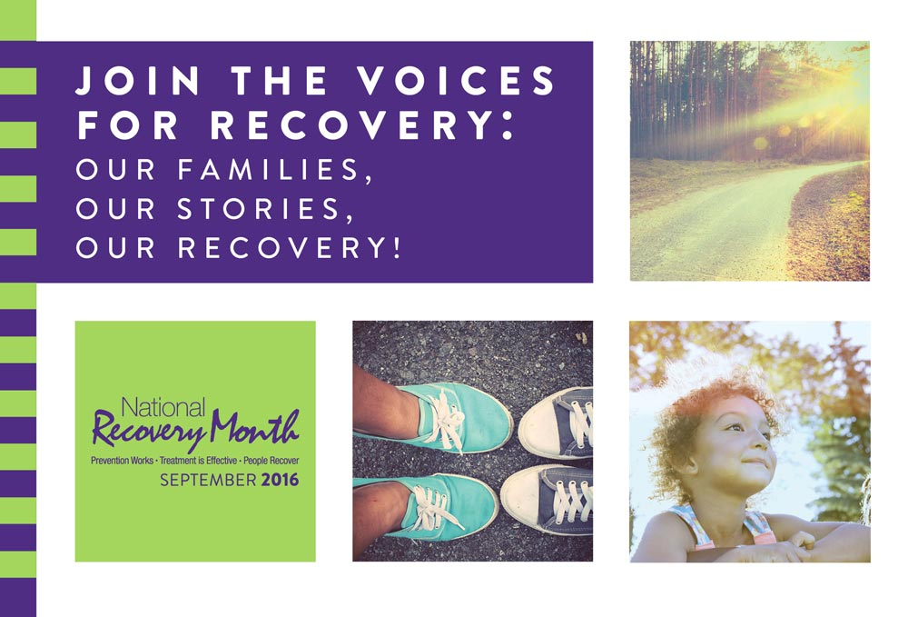 National Recovery Month September 2016 - Our Families, Our Stories, Our Recovery - Twin Lakes Recovery Center