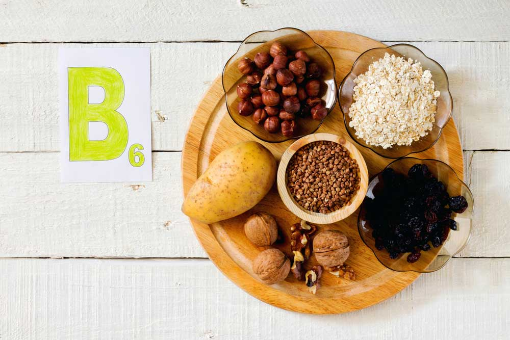 b6 vitamin rich foods on a plate - foods that curb cravings from drugs and or alcohol
