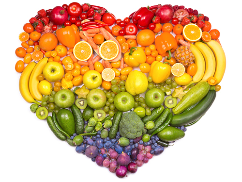 5 Foods Your Body Needs During Recovery - healthy foods heart shape