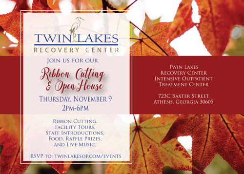 Twin Lakes Recovery Center Athens Outpatient - Open House Event - November 9, 2017