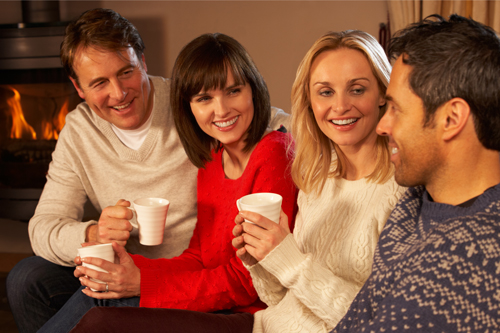 Planning a Sober Holiday Season - group of friends gathered for holidays