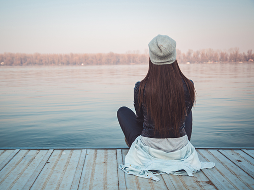 Post-Rehab Dos and Don'ts - woman sitting on pier