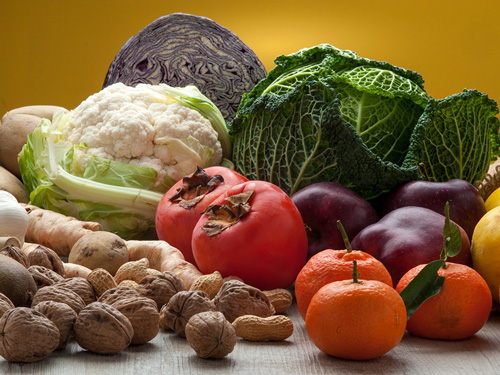 Changing an Acid Diet to Alkaline - fruits nuts and vegetables