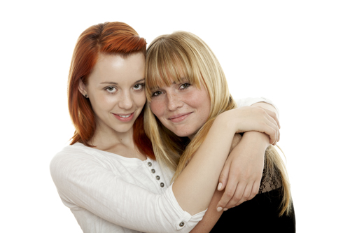 Addiction and Suicide - best friends hugging