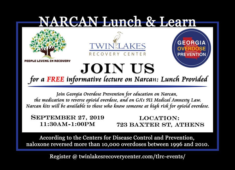 Narcan Lunch & Learn - Twin Lakes Recovery Center