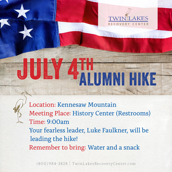 Twin Lakes Recovery Center July 4th Alumni Hike