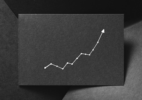 simple line chart in white on black paper - drug overdose